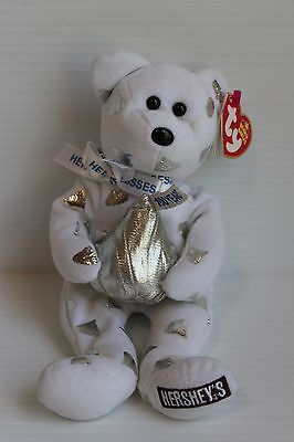 2007 TY Beanie Baby beanbag Hershey's Kisses white and silver bear
