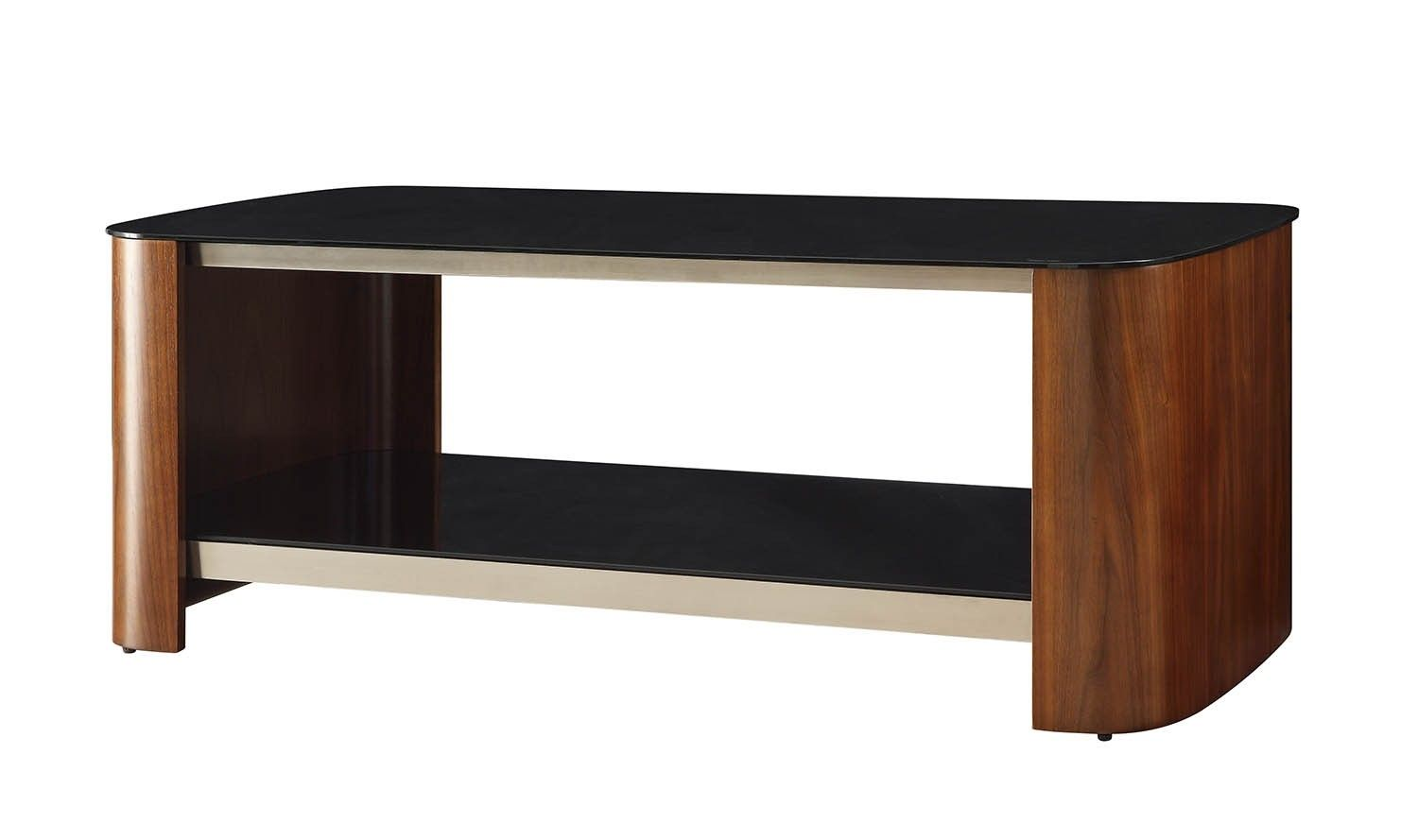 Couchtisch Curve Von Jual Jual Furnishings Jf311 Chrome Walnut Coffee Table This