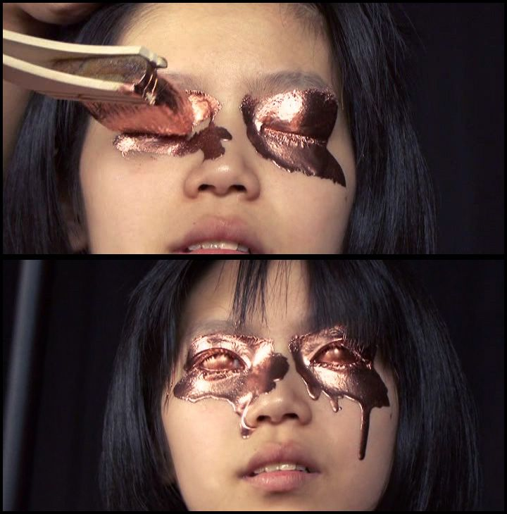 Bronze eye makeup - this is so cool!