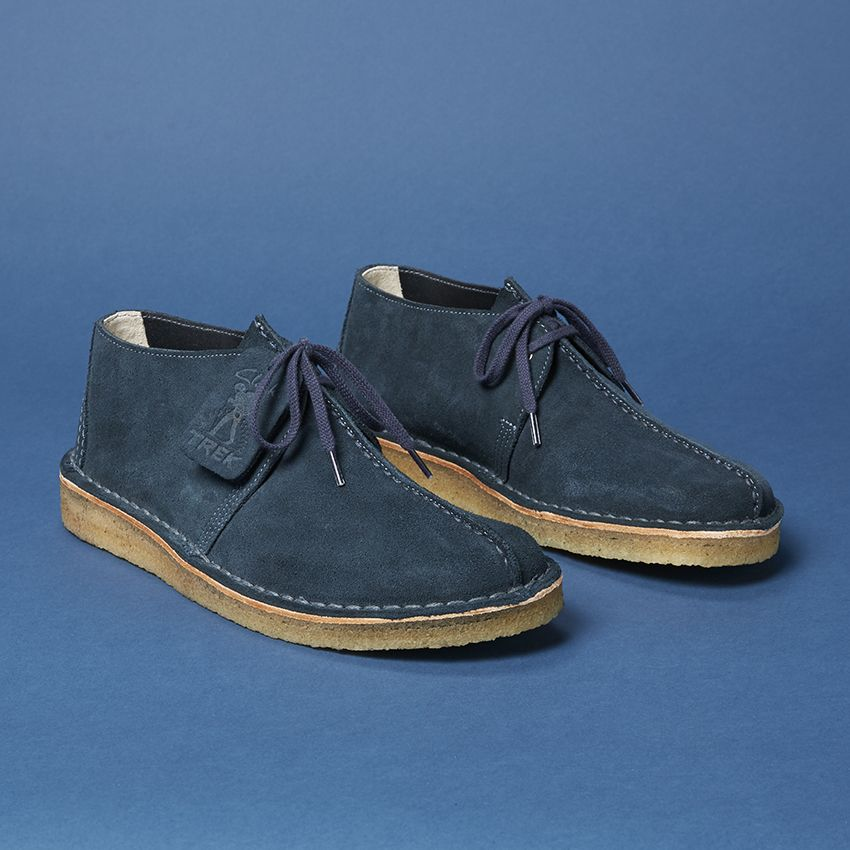 317bfcac 6876 x Clarks Originals collaboration Desert Trek Boot in Navy suede ...