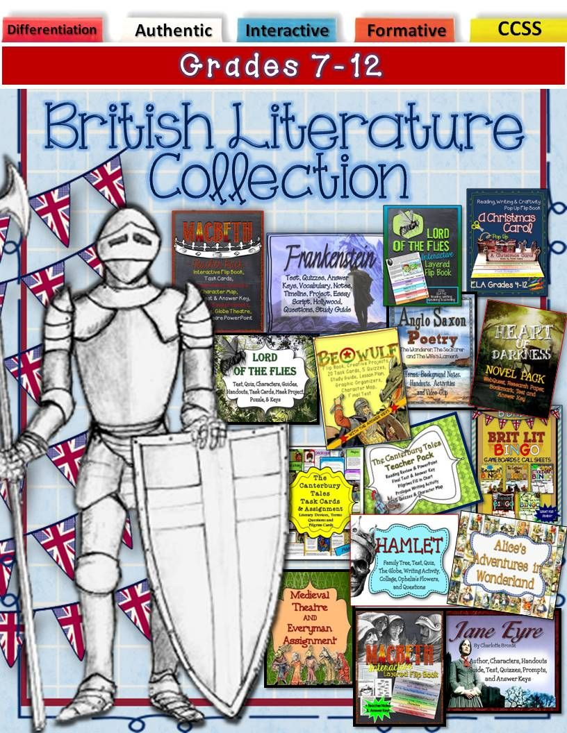 British Literature Collection: Interactive & Differentiated for Grades 7-12.  This teacher pack will provide you with great interactive, differentiated,  ...