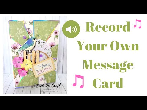 How To Make A Musical Greeting Card Record Your Own Message Card Voice Recorder Youtube Musical Greeting Cards Card Craft Recordable Greeting Cards