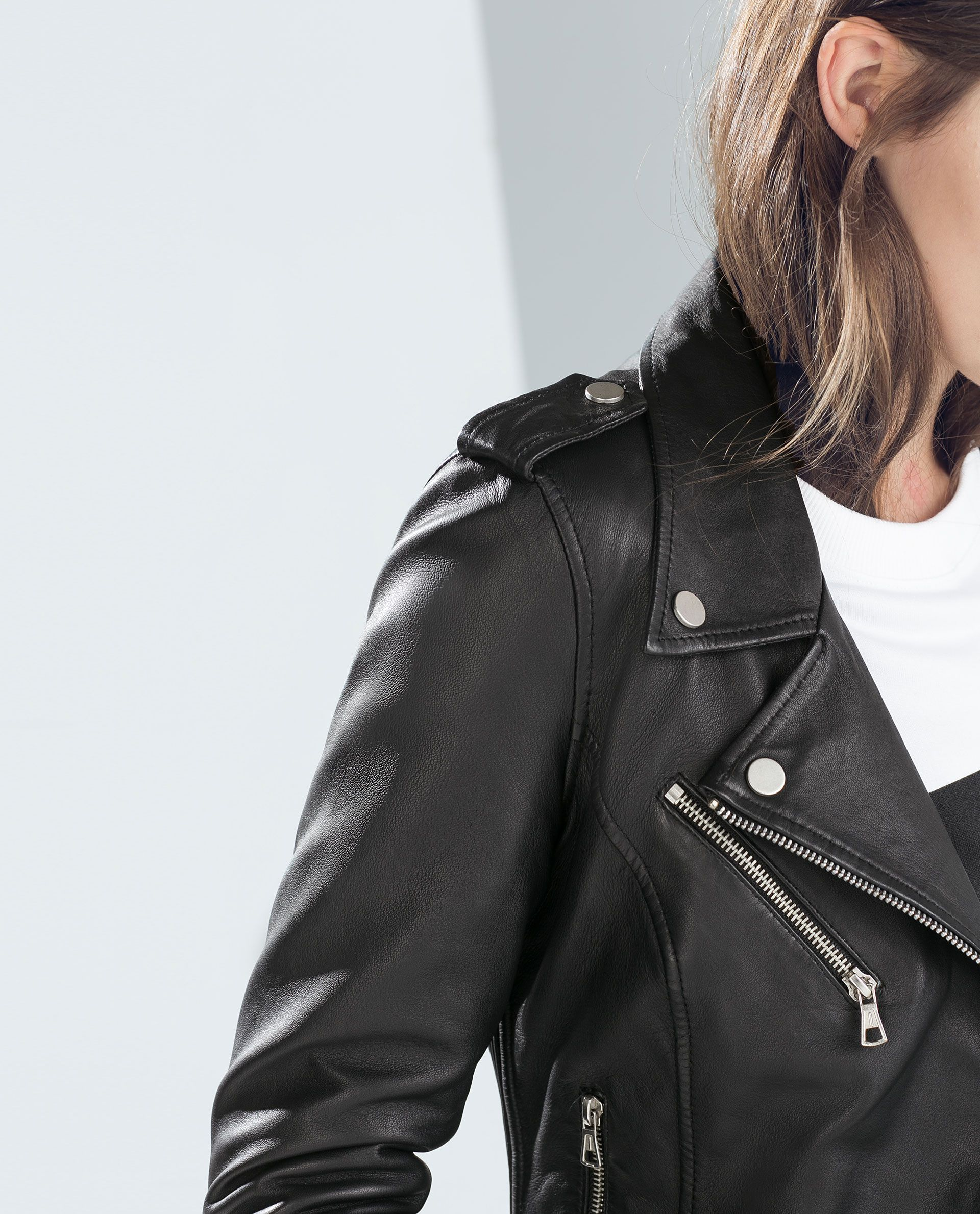Image 4 of LEATHER BIKER JACKET from Zara Zara, Hình ảnh