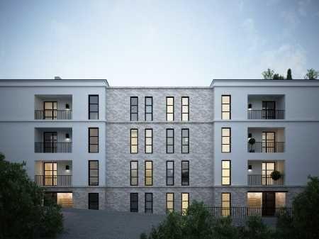 Traumhafte Neubau Wohnung mit Terrasse und Garten