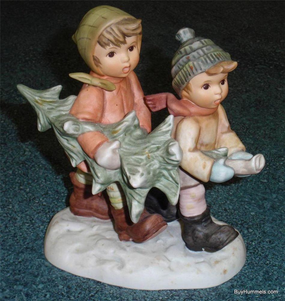 Hummel christmas tree ornaments -  Tree Trimming Time Hummel Figurine Boy Girl With Christmas Tree Gift W Box