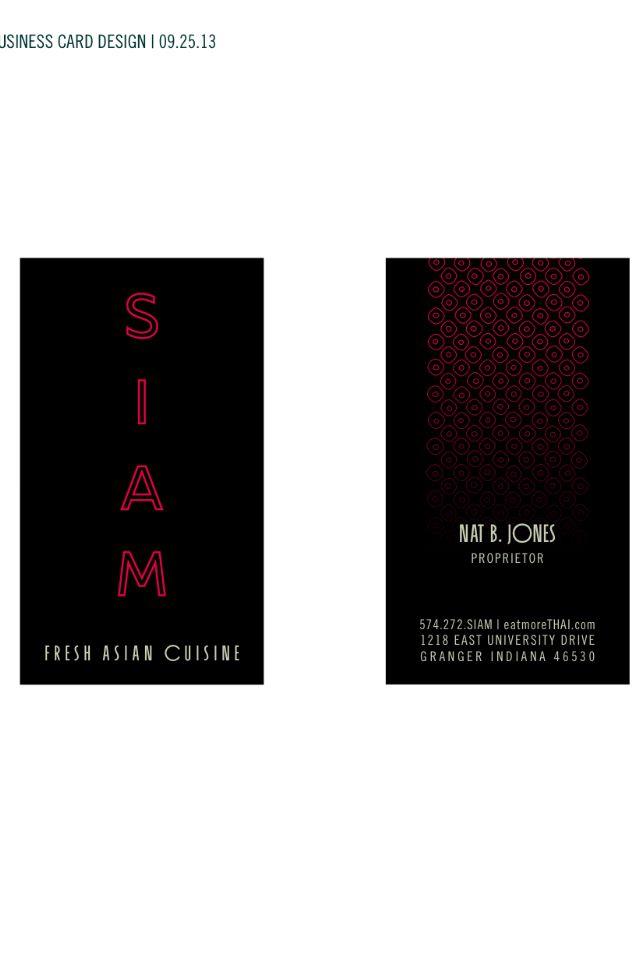 SIAM Official Business Card Cards Visit Carte De Visite