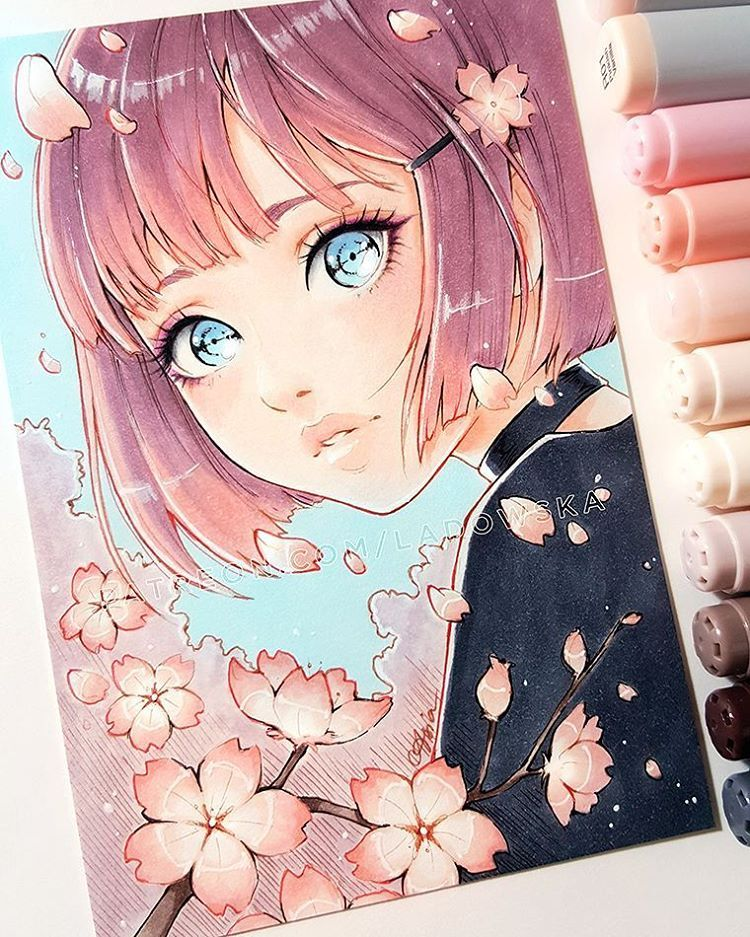 Copic Anime Colouring Concept
