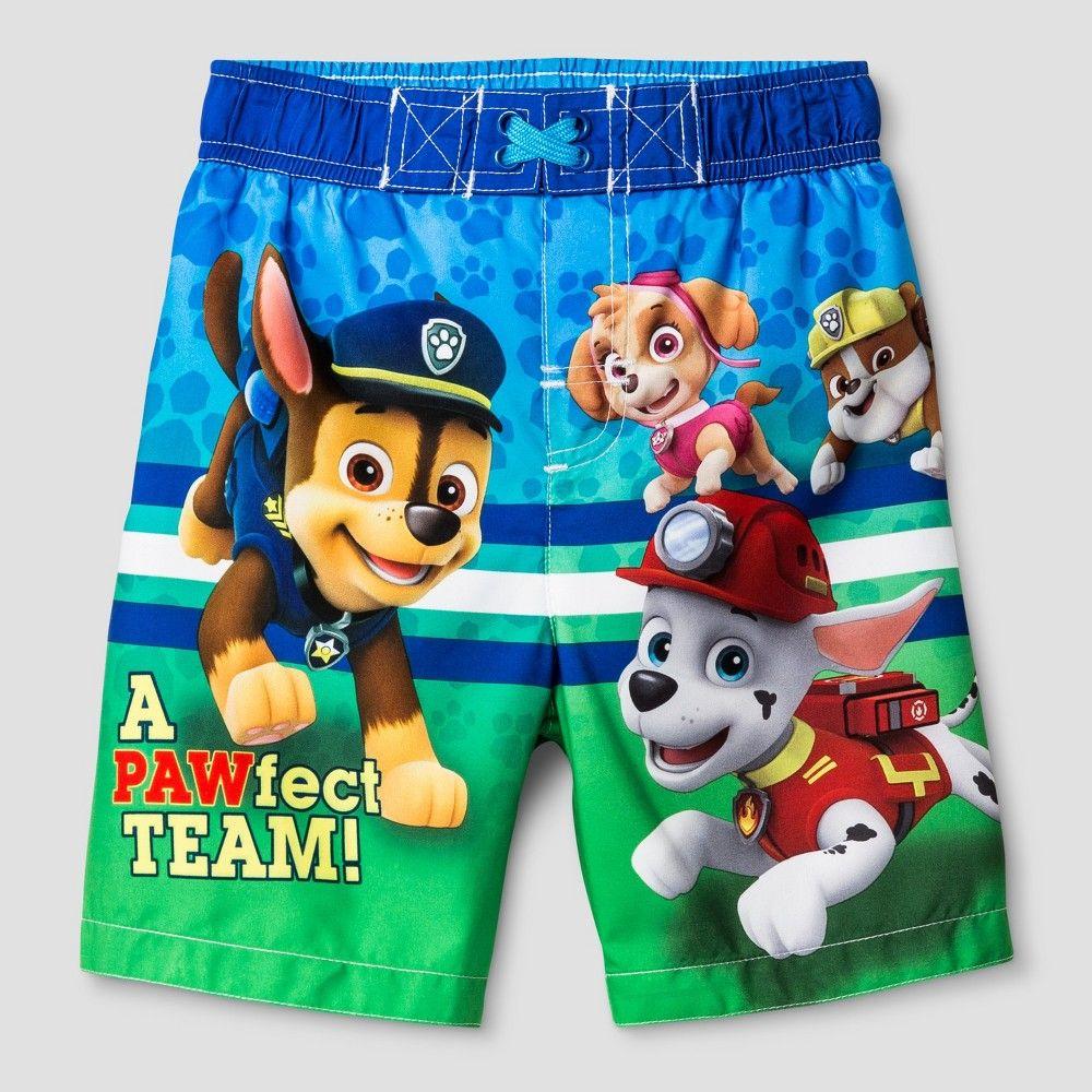 9cf99aabdc Toddler Boys' Paw Patrol Swim Trunks - Blue   Products   Swim trunks ...