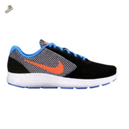 Nike Women's Revolution 3 Running Shoe, Black/Bright Mango-Metallic Silver,  9.5