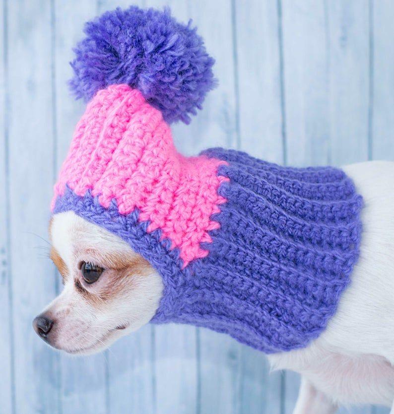 Outdoor Dog Hat Wool winter dog hat Crochet Dog Hat