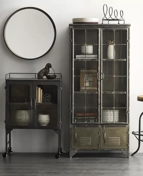 Williston Forge Hartland 1 Door Accent Cabinet Wayfair In 2020 Accent Doors Metal Cabinet Metal Storage Cabinets