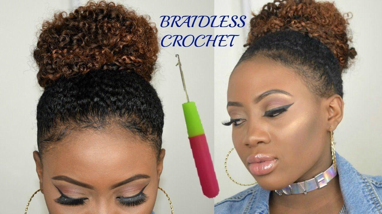 braidless crochet - high messy bun | jerry curl bohemian