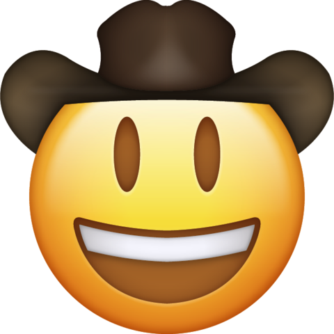 Cowboy Emoji Download Ios Emojis Emoji Painting Emoji Emoji Faces