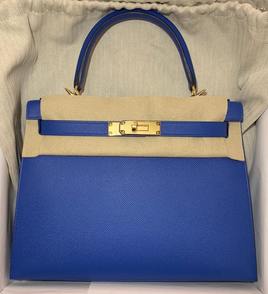 73fb526d4c Hermes Kelly Blue Zellige Epsom Gold hardware #hermeskelly #k28  #bluezellige #zellige #handbags #christmascrafts #bags #luxury