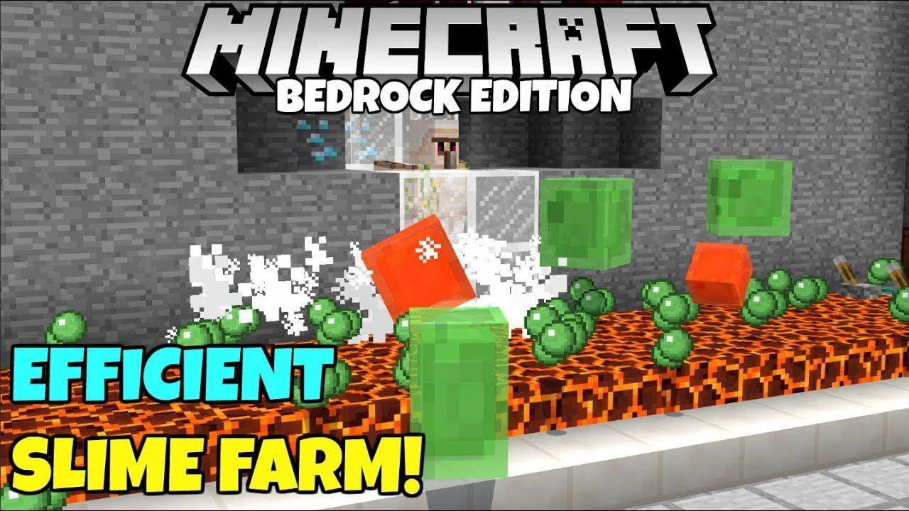 Minecraft Bedrock Slime Farm Tutorial Simple And Efficient Mcpe Xbox Pc Youtube Slime Farm Minecraft Slime Slime