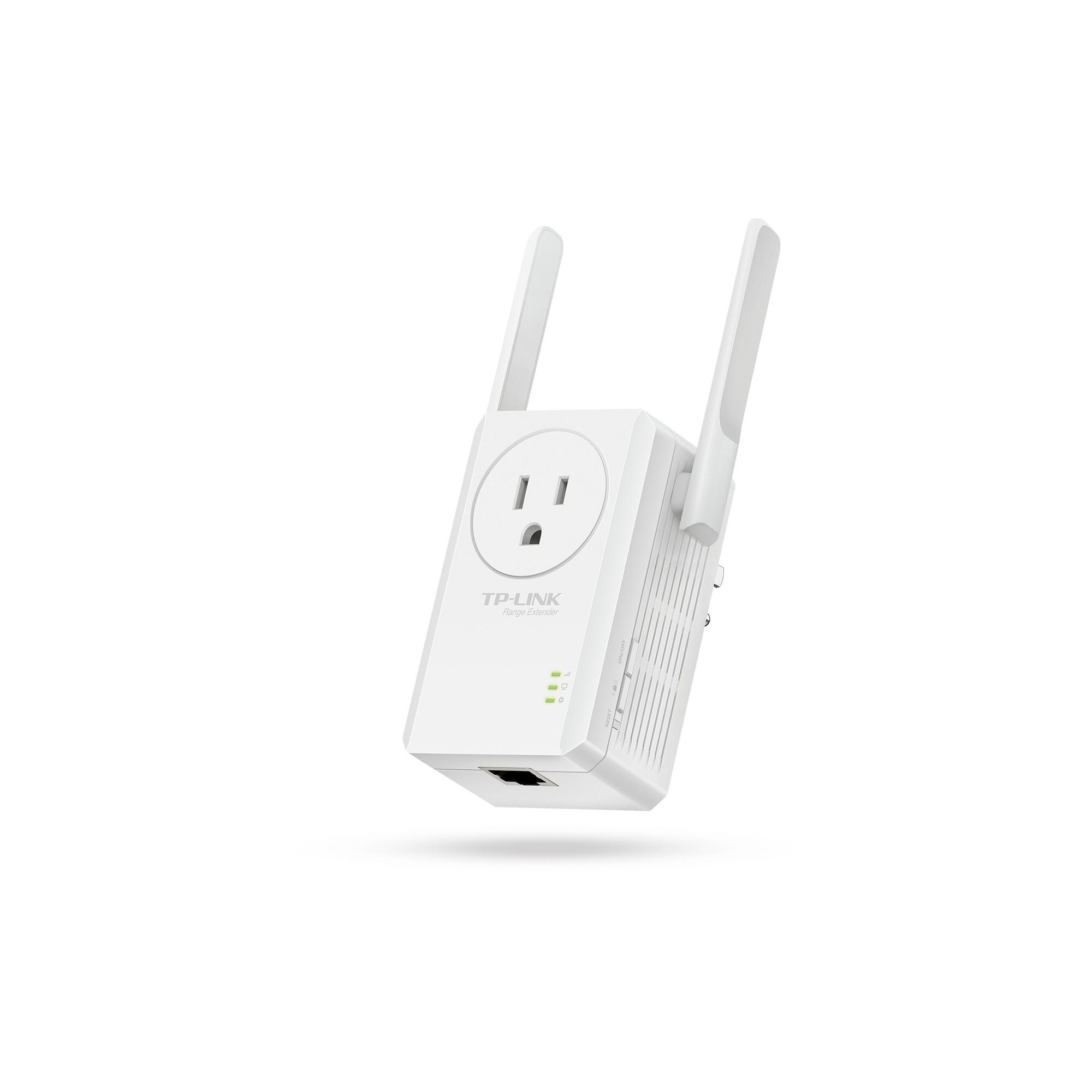 TP-Link N300 Universal Wi-Fi Plug In Range Extender - White