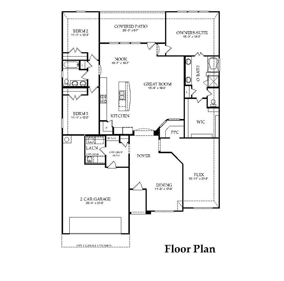 Love The Nook Kitchen Family Room Size And Layout Remove Dining Flex Space Make Master Bed Bath A Tad Smaller And Pulte Homes Floor Plans Pulte