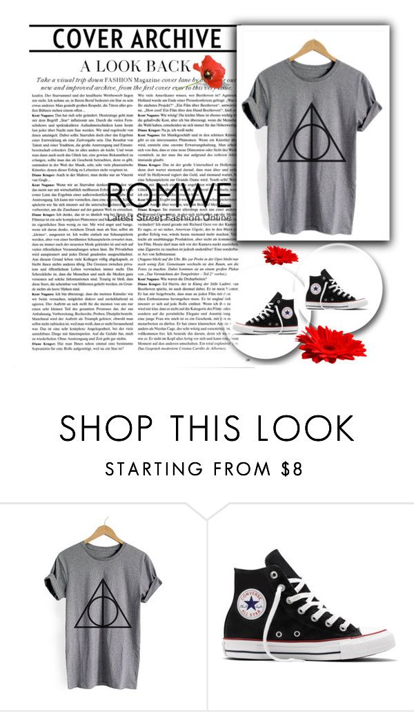 """Bez naslova #24"" by dinnela ❤ liked on Polyvore featuring Converse and romwe"