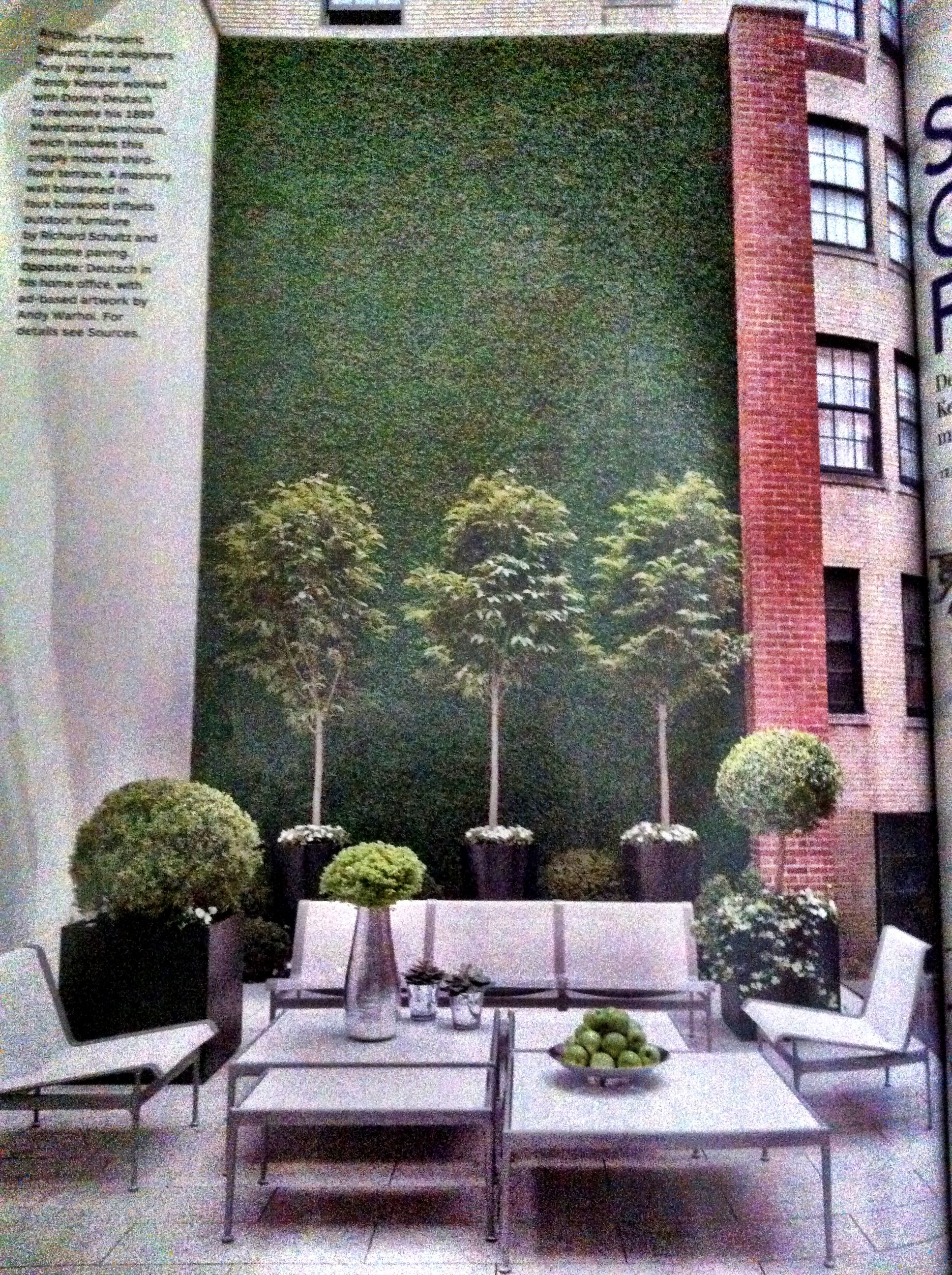 Cool Example For Pvp Courtyard To Cover Concrete Masonry Wall Covered In Faux Boxwood Masonry Wall Wall Coverings Masonry