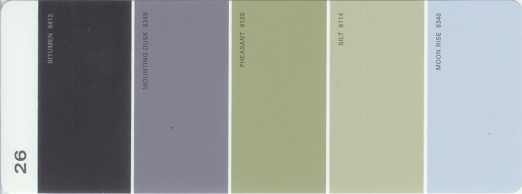 Martha Stewart Paint 5 Color Palette Card 26 In 2019
