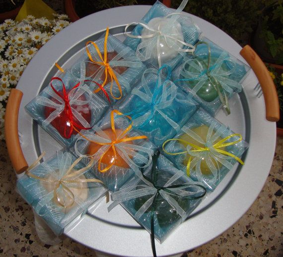 Set di 14 saponi doccia nuziale favore di JoannasScentedSoaps