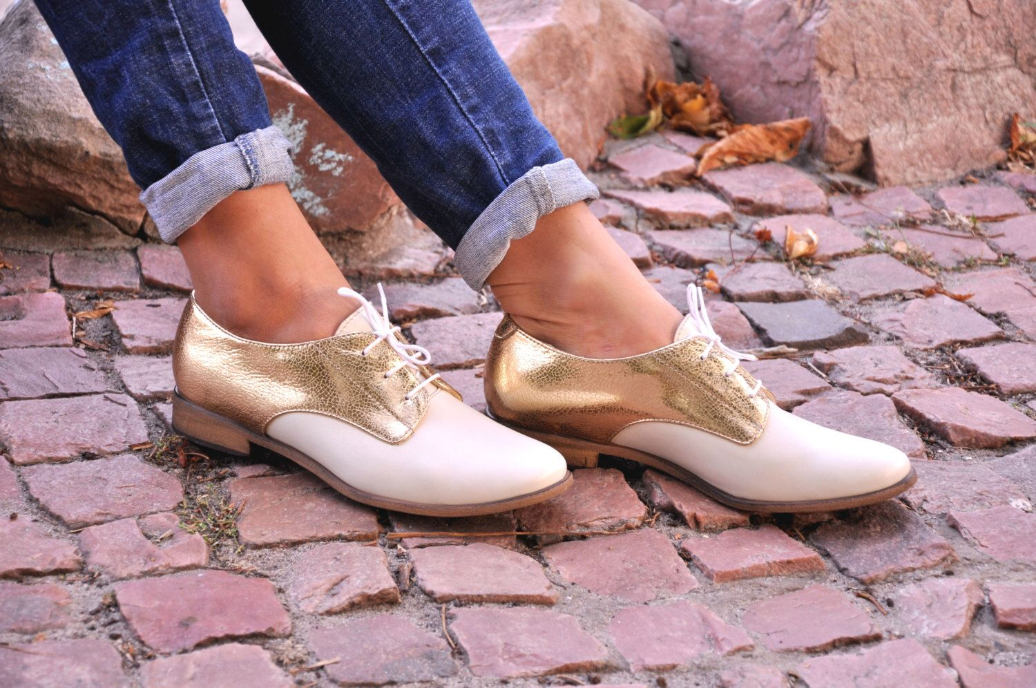 Abbey - Womens Derbys, Chic Shoes, Leather Shoes, wedding shoes, Gold Oxfords, Custom Shoe, FREE customization!!!. by JuliaBoShoes on Etsy https://www.etsy.com/listing/251056912/abbey-womens-derbys-chic-shoes-leather