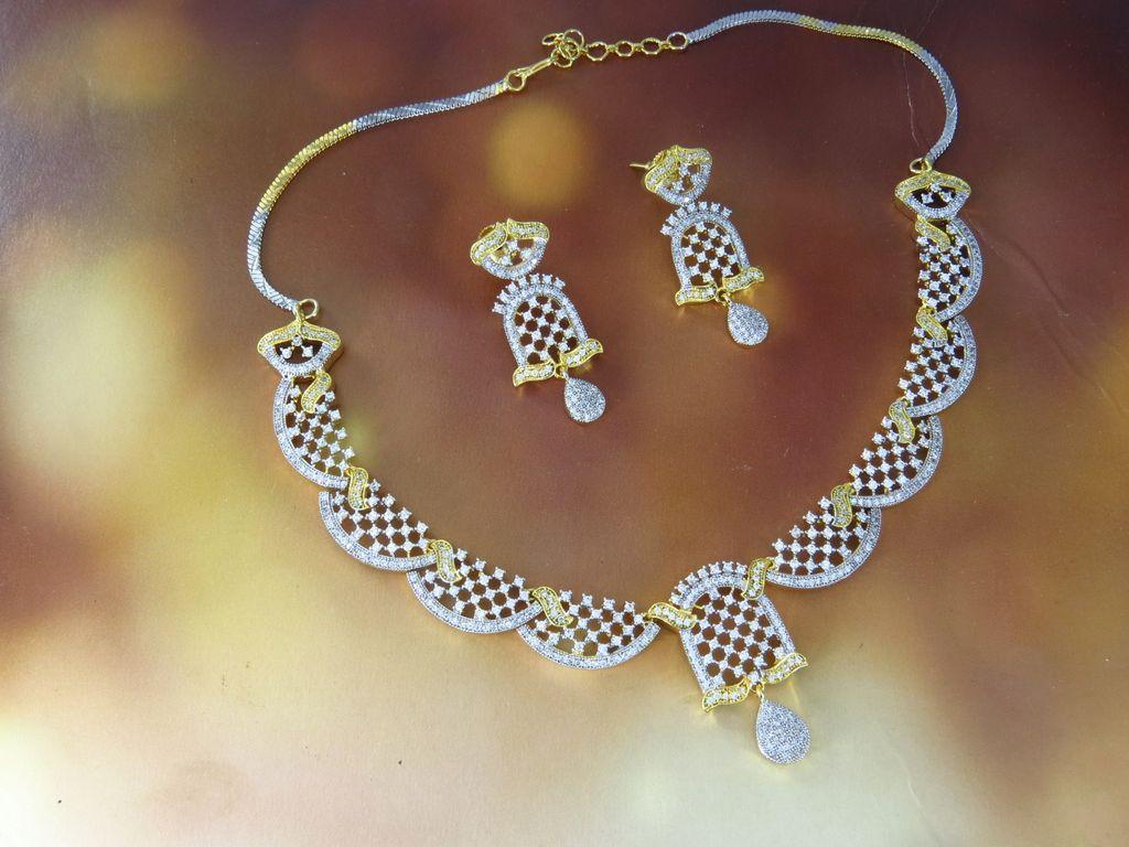 American Diamond Necklace Set suppliers, jewellery wholesalers ...