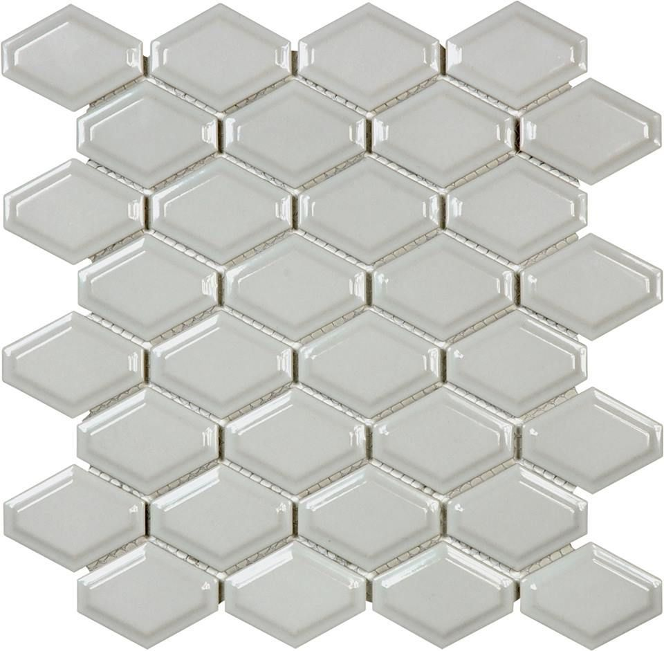 Beveled Convex Mosaic - Glossy Grey - On Sale - $6.49 per sheet ...