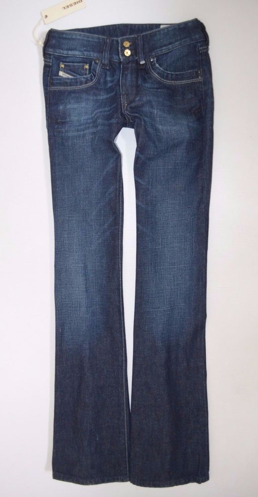 5b1309ce NEW Ladies DIESEL RONHAR 008FC Stretch Bootcut JEAN woman W24 L30 size 6  33