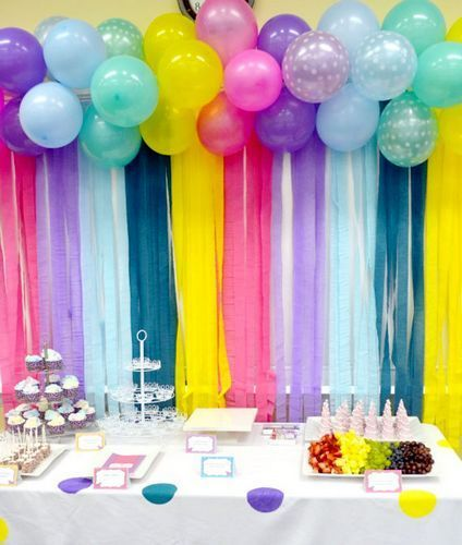 Knallbunter Partytisch Mit Ballons Und Bunter Tischdecke, Deko Für Die  Karnevals Party Zu Hause U003eu003e 10 Adorable Birthday DIYs