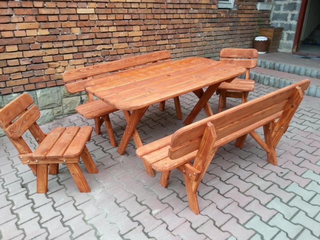 Meble Ogrodowe Drewniane Dla 8 Osob Sadolin 5017862995 Oficjalne Archiwum Allegro Furniture Outdoor Tables Outdoor Furniture