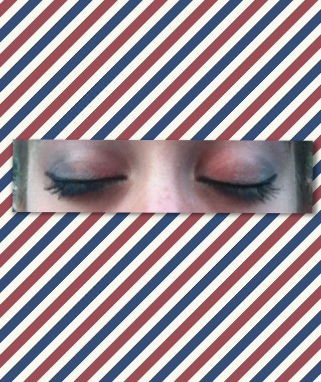 Red white and blue makeup perfect for the Fourth of July!