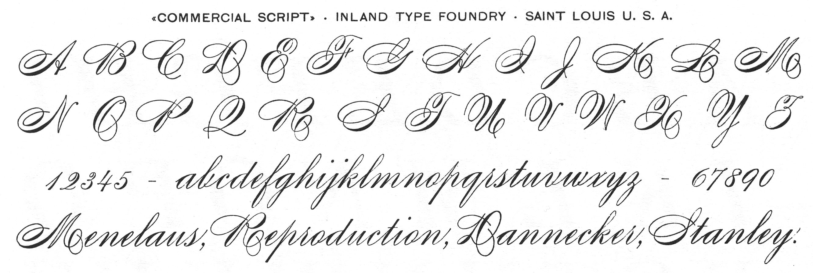 Spencerian Script Caligrafia Inglesa Copperplate