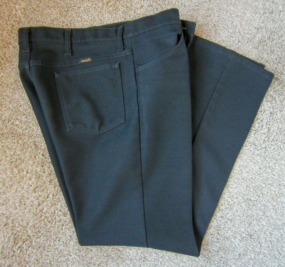 Mens wrangler 82bk jeans 36x30 black 100 polyester