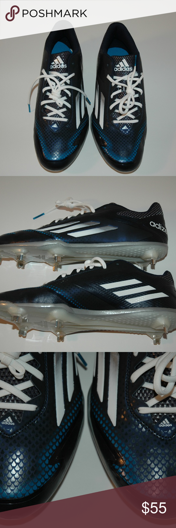 hot sale online cc3e8 df9e9 Adidas Adizero Afterburner Metal Baseball Cleats Adidas Adizero Afterburner  2.0 Metal Baseball Cleats Blue S84704 Sz 11. These are brand new and SOLD  ...