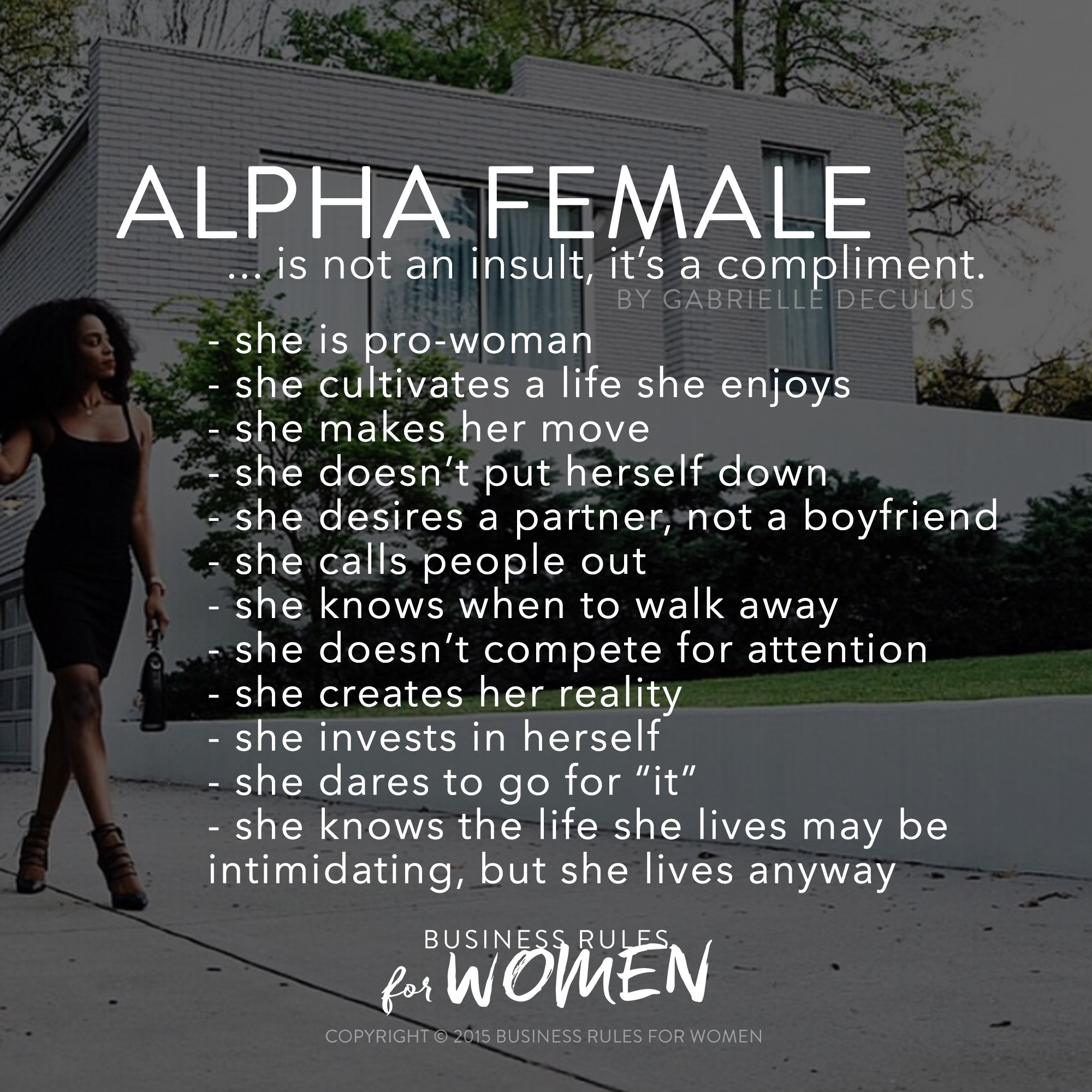 Men Looking At Other Women Quotes: 6 Business Rules For Alpha Women