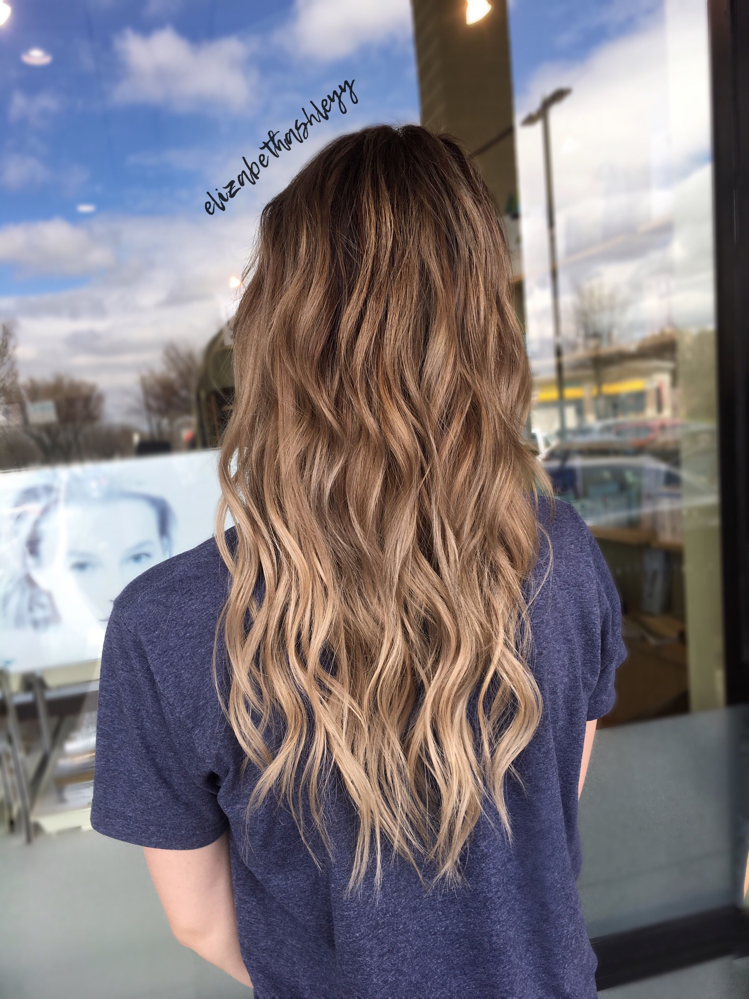 Natural Blonde Ombr Blonde Balayage Ombr Tape In Extensions