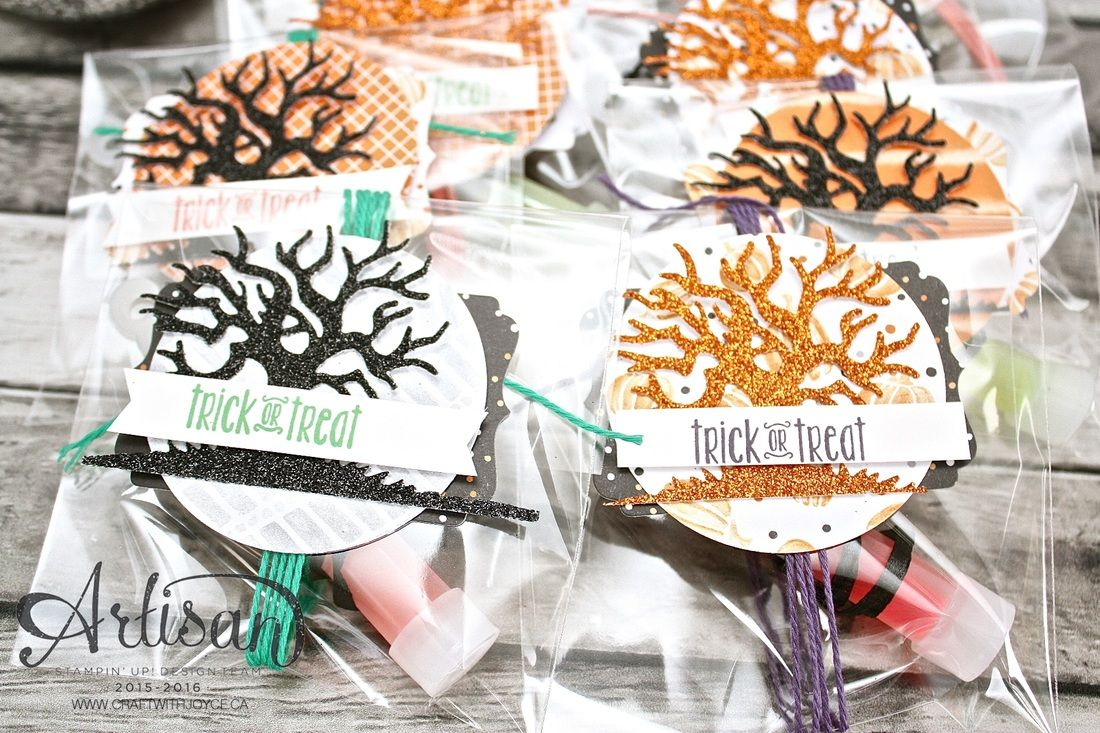 reallolli Halloween treats, with no candy using the Spooky fun stamp set ~ by Joyce  Fowler