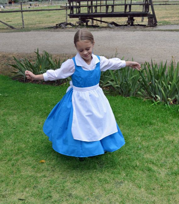 Belle Blue Village Peasant Provincial Life Costume Dress ...