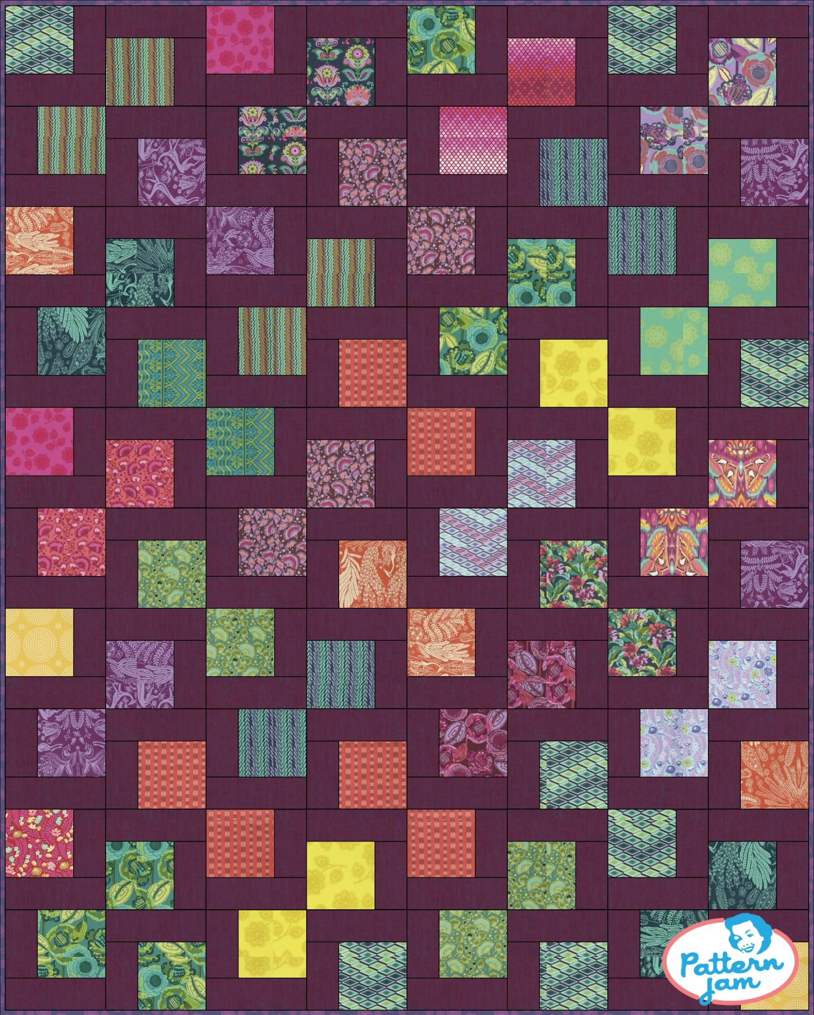 Check out what I just created using @PatternJam . Reflections ... : charm square quilt pattern - Adamdwight.com