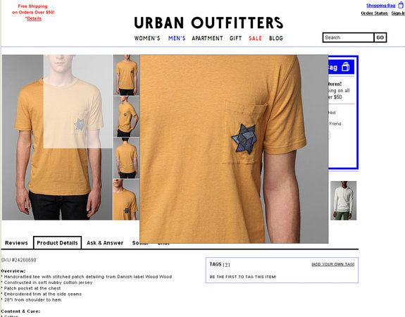 Urban Outfitters 'Jewish Star' T-Shirt Causes Outrage (PHOTO) http://huff.to/Jcm6K0 via @HuffingtonPost