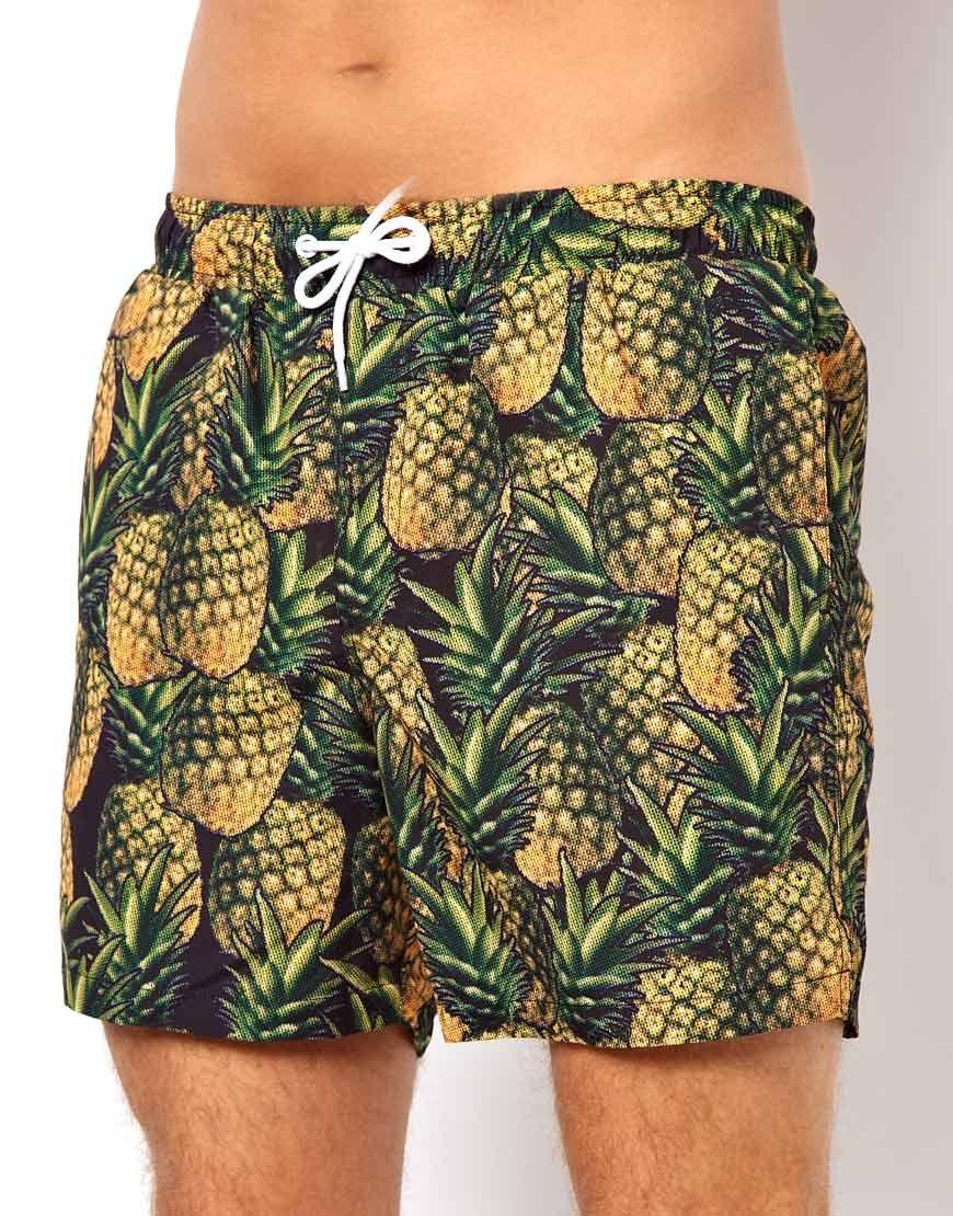 b5e270fd6d Swim Shorts With Pineapple Print ---------prints, I like pineapples ...