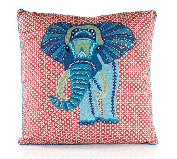 Karma Living Blue Elephant Throw Pillow - Kids Pillows - Shop Nectar ...