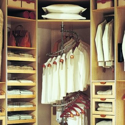 Storage closets space saving spiral staircase design - Space saving closet ideas ...