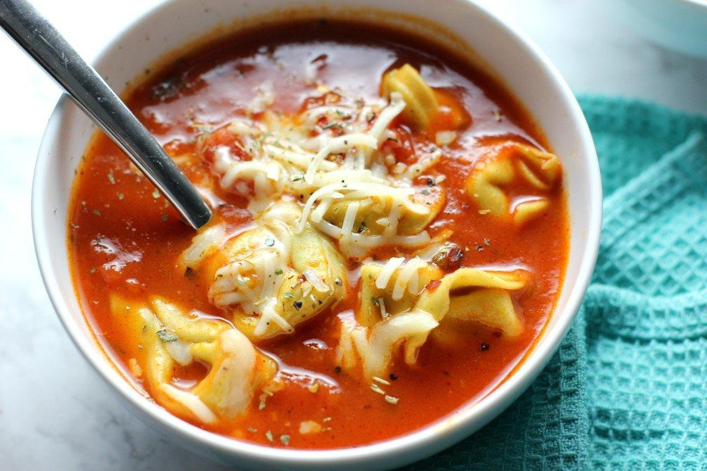 This vegetarian tortellini soup is the perfect cold weather recipe! Perfect for a quick weeknight meal!