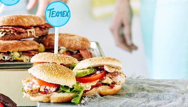 Texmex-kanahampurilaiset avokado
