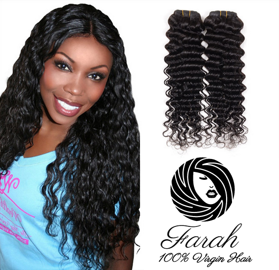 Deep Wave Style Indian 100% Human Hair 7A Grade Virgin Human hair Deep Wave style Indian extension 8''-26''