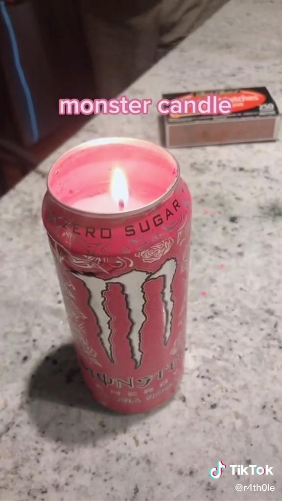 Photo of diy monster can candle! ⛓🕯