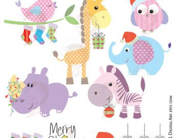 Baby Animals Clipart Free Commercial Use Cute Clip Art Etsy Animal Clipart Free Cute Animal Clipart Baby Clip Art