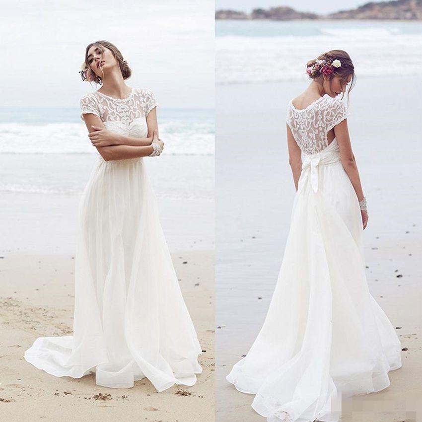 Brautkleider Weiss/Elfenbein Strand Hochzeitskleid 2016 Gr:32 34 36 ...